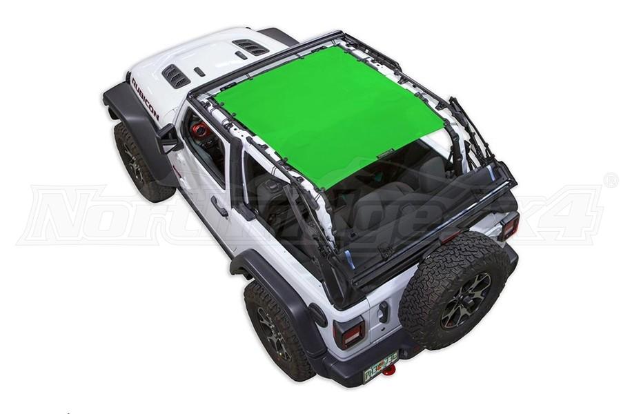 Spiderwebshade JL2D ShadeTop Green - JL 2dr