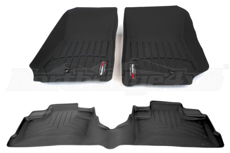 WeatherTech Front and Rear Floorliner Kit - JK 4dr 2007-13 (Part Number:44105-1-2)