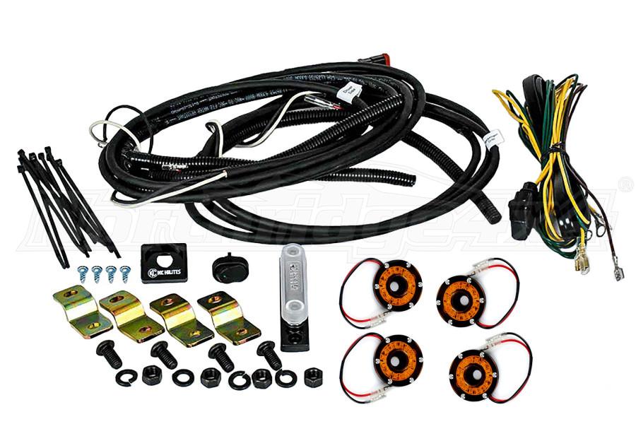 KC Hilites Rock Light Kit, 4 Lights, Amber (Part Number:91021)