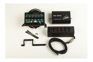 SPOD 6 SWITCH SYSTEM WITH DOUBLE LED LIGHT CONTURA ROCKER SWITCHES & SOURCE SYSTEM Green - JK