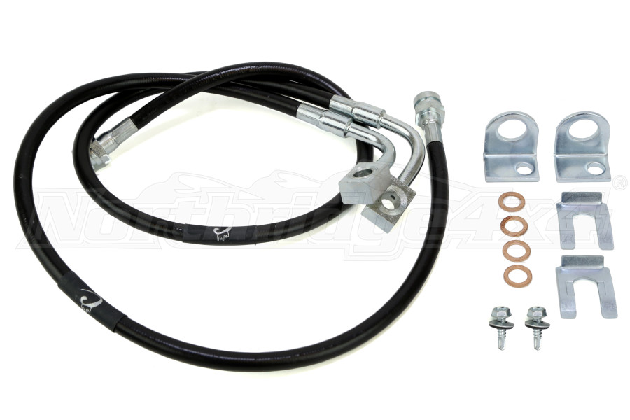 Performance Brake Lines : Jeep jk crown performance extended front brake lines