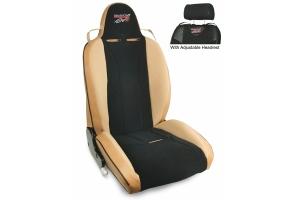 MasterCraft Baja RS DirtSport Reclining Seat w/Adj. Headrest & BRS Stitching - Tan/Black/Brown Haze