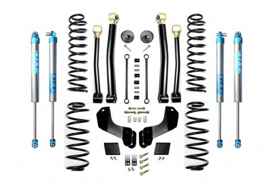 Evo Manufacturing HD 2.5in Enforcer Overland Stage 3 Lift Kit w/ King 2.0 Shocks - JL