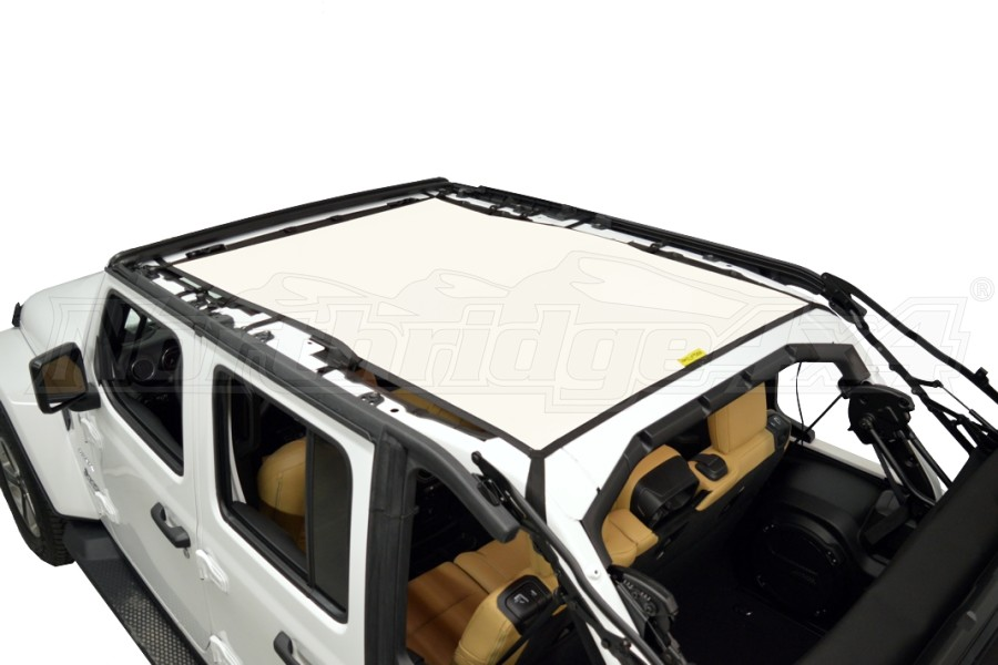 Dirty Dog 4x4 Sun Screen Safari length - White (Part Number:JL4S18S1WH)