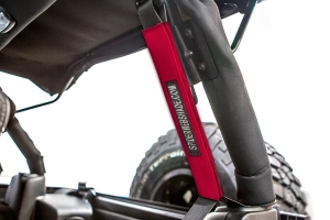 SpiderWebShade Seatbelt Silencers - Red - JK 4Dr