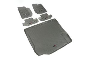 Rugged Ridge Floor Liner Kit, Gray (Part Number: )