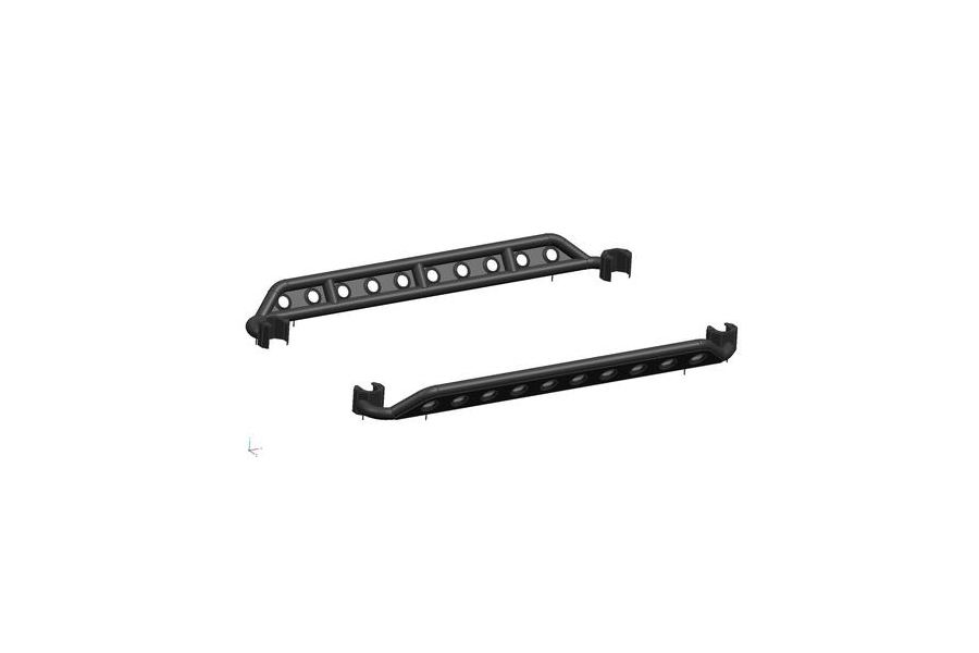 DV8 Offroad Steel Rock Guard/Sliders Plated w/Holes  (Part Number:SRSOTB-04)