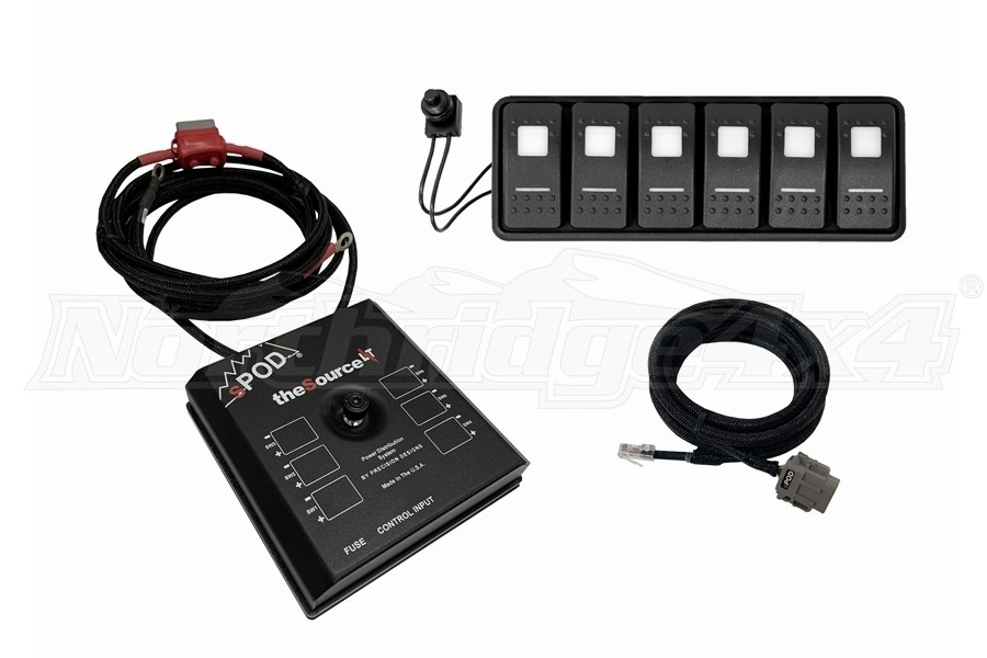 sPOD SourceLT Modular w/ LED Switch Panel and 84in Battery Cables - Red