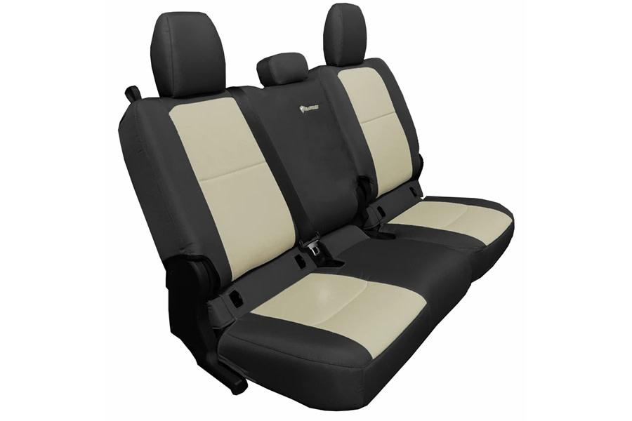 Bartact Tactical Series Rear Seat Covers - Black/Khaki, No Armrest - JT