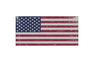 Under The Sun Inserts Distressed Old Glory Grill Insert (Part Number: INSRT-DTROG-JL)