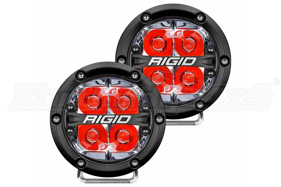 Rigid Industries 360 Series 4in LED Off-Road Lights - Spot w/Red Backlight