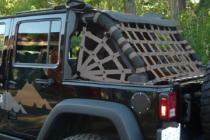 Dirty Dog 4x4 Rear Netting Grey (Part Number: )
