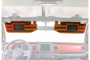Bartact Visor Covers w/ PALS Webbing for MOLLE attachments, Pair - Orange - JT