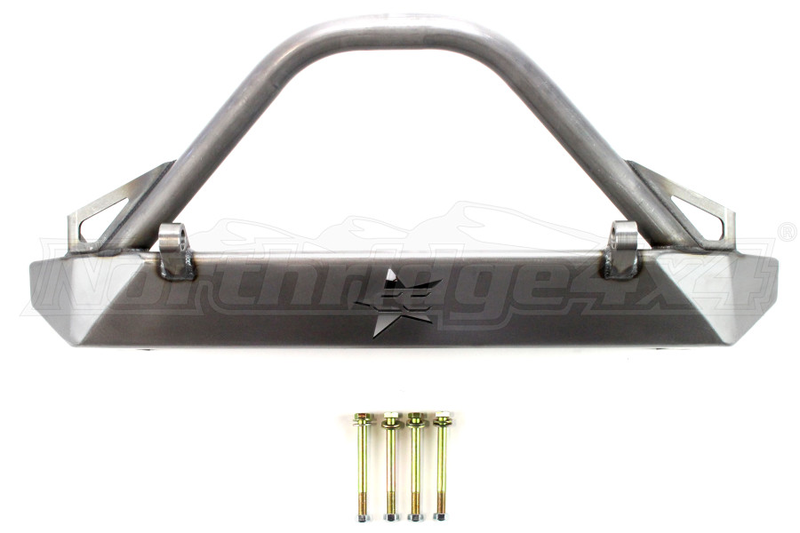 Crawler Conceptz Skinny Series Front Bumper w/Bar And Tabs Bare - JK