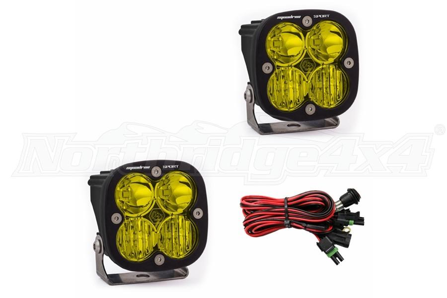 Baja Designs Squadron Sport Light Pair - Amber, Driving/Combo