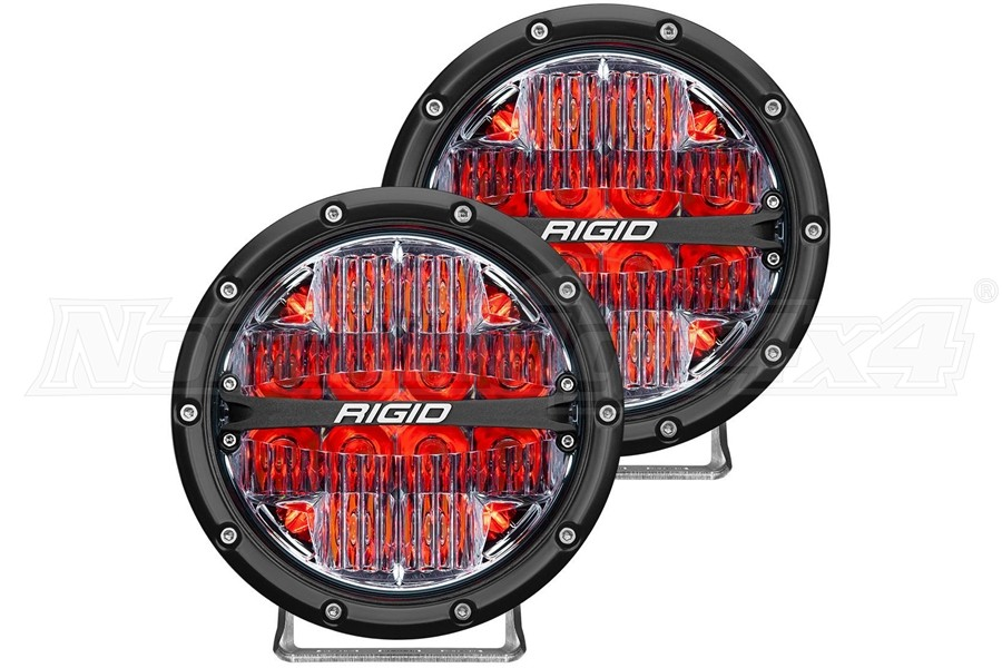Rigid Industries 360-Series 6in LED Off-Road Drive Fog Lights, Red - Pair