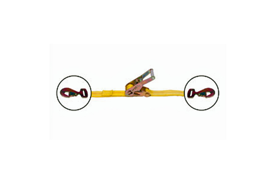 Mac's Ratchet Strap w/ Flat Snap Hooks 2in x 27ft (Part Number:121127)