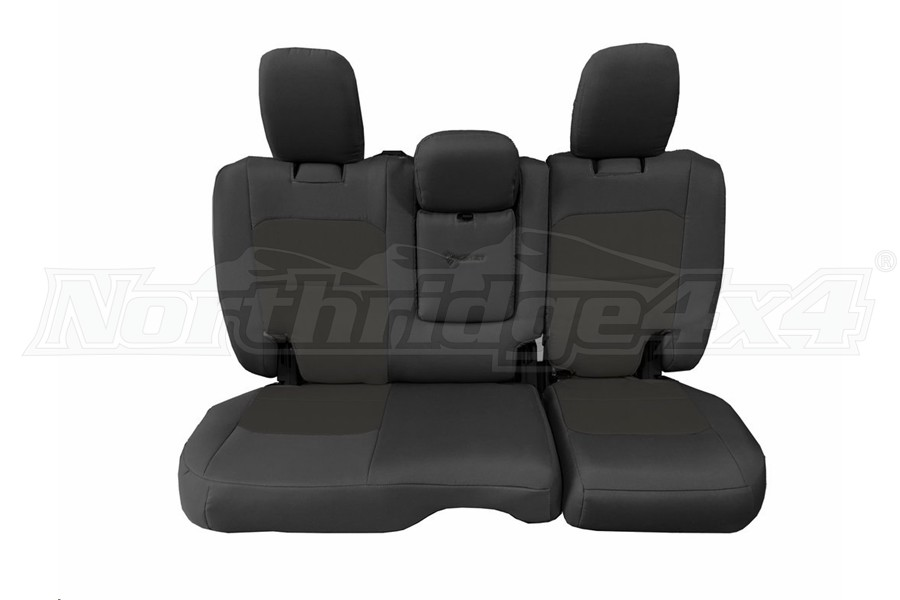Bartact Tactical Rear Seat Cover w/Fold Down Armrest Graphite/Graphite (Part Number:JLSC2018RFGG)