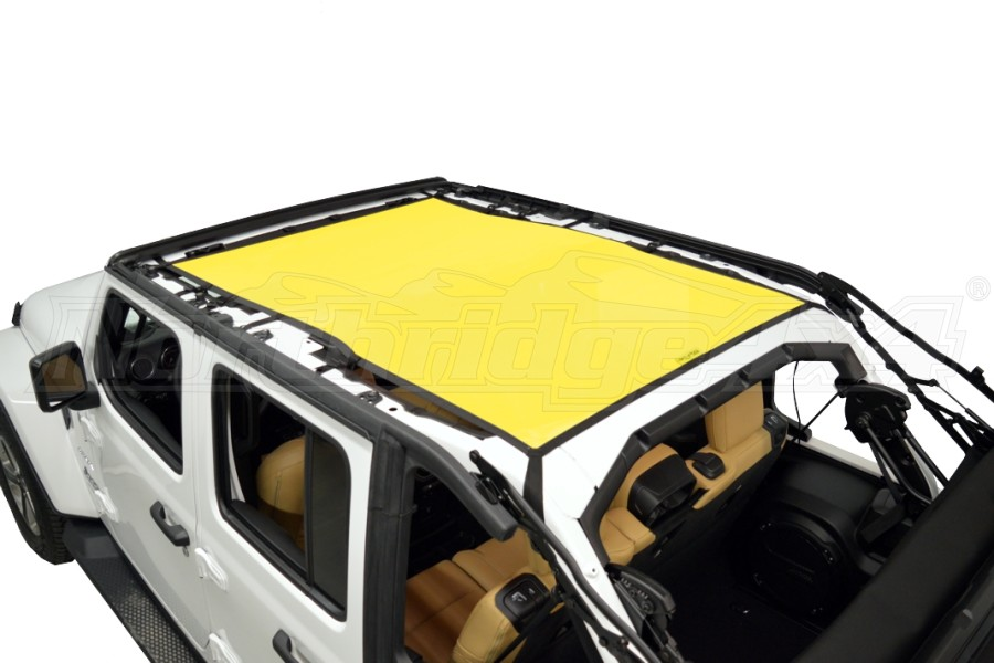 Dirty Dog 4x4 Sun Screen Safari length - Yellow - JL 4DR