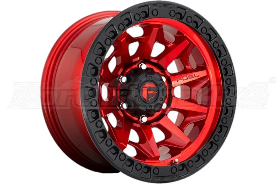 MHT Fuel D695 Covert Series Wheel, 17x9 5x5 - Gloss Red - JT/JL/JK
