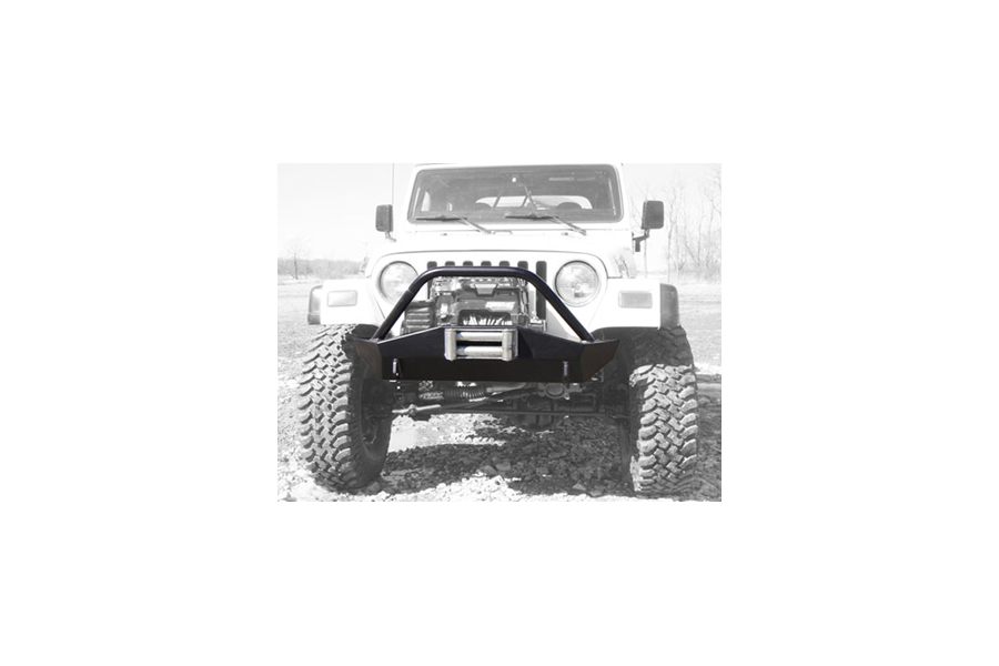 LOD Signature Series Shorty Front Bumper w/Bull Bar Black Powder Coated - TJ/LJ