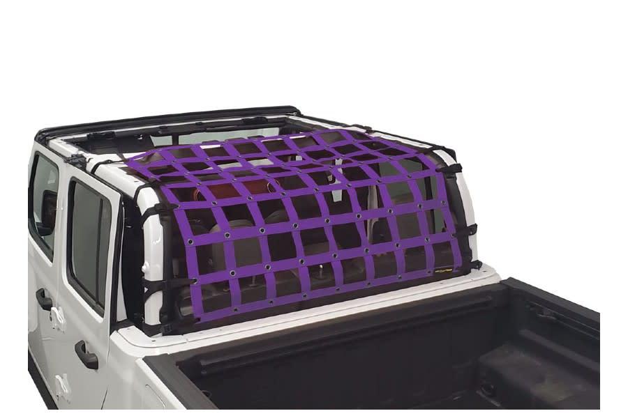 Dirty Dog 4x4 Rear Seat Netting, Purple - JT
