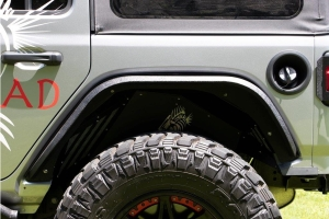 Fishbone Offroad Elite Rear Tube Fenders - Aluminum - JL