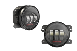 JW Speaker 6145 J2 Series LED Fog Light Kit, Black - Pair - JL Rubicon Only