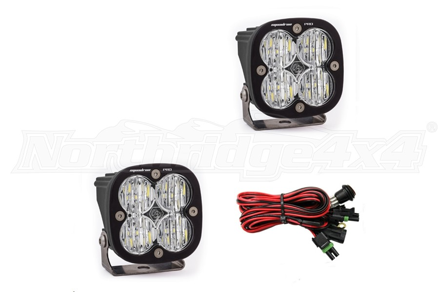 Baja Designs Squadron Pro Wide Cornering LED Lights, Pair