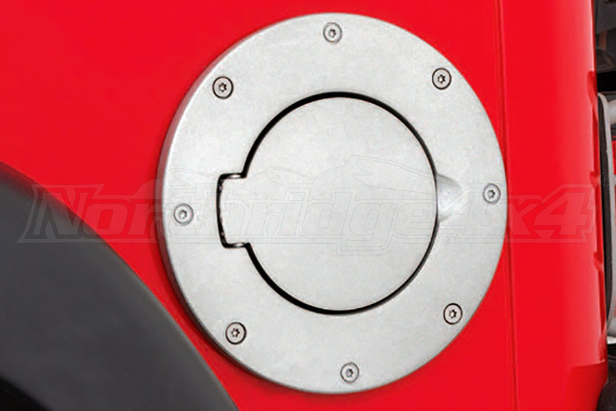 Smittybilt Billet Style Gas Cover Polished - TJ