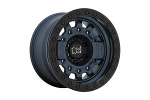 Black Rhino Avenger Beadlock Wheel, 17x8.5 5x5 - Navy Blue - JT/JL/JK