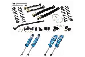 EVO Manufacturing 4in Enforcer Stage 2 Lift Kit w/ Draglink Flip Kit and King Shocks - JK