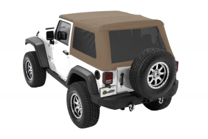 Bestop Trektop NX Glide Soft Top with Tinted Side & Rear Windows - Pebble Twill (Part Number: )