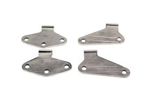 Kentrol 4-Pieces Body Door Hinge Set - Polished Silver  - JK 2Dr