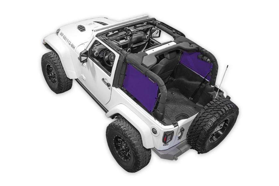 SpiderWebShade Rear 2-pc SpiderSides - Purple - JK 2Dr