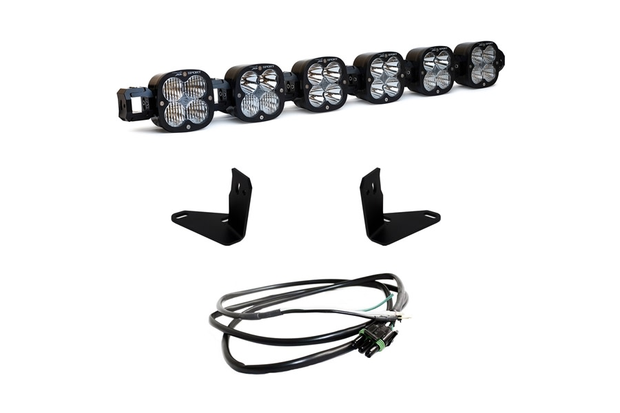Baja Desgins 6 XL Series Linkable Light Bar Kit w/ Upfitter  - Bronco Sport w/ Steel Bumper