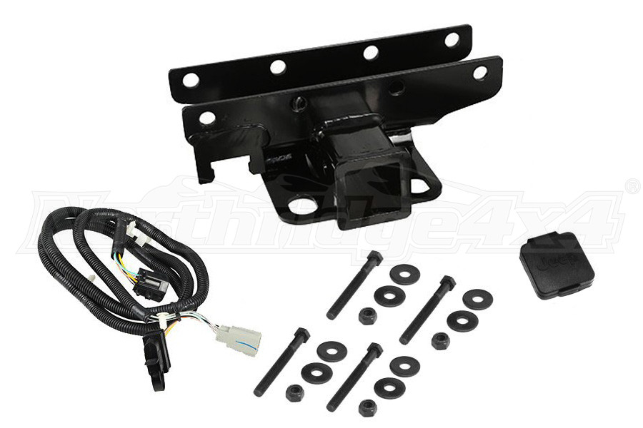 Rugged Ridge Receiver Hitch Kit w/ Jeep Plug  (Part Number:11580.52)