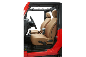 Bestop Front Seat Covers Tan  (Part Number: )