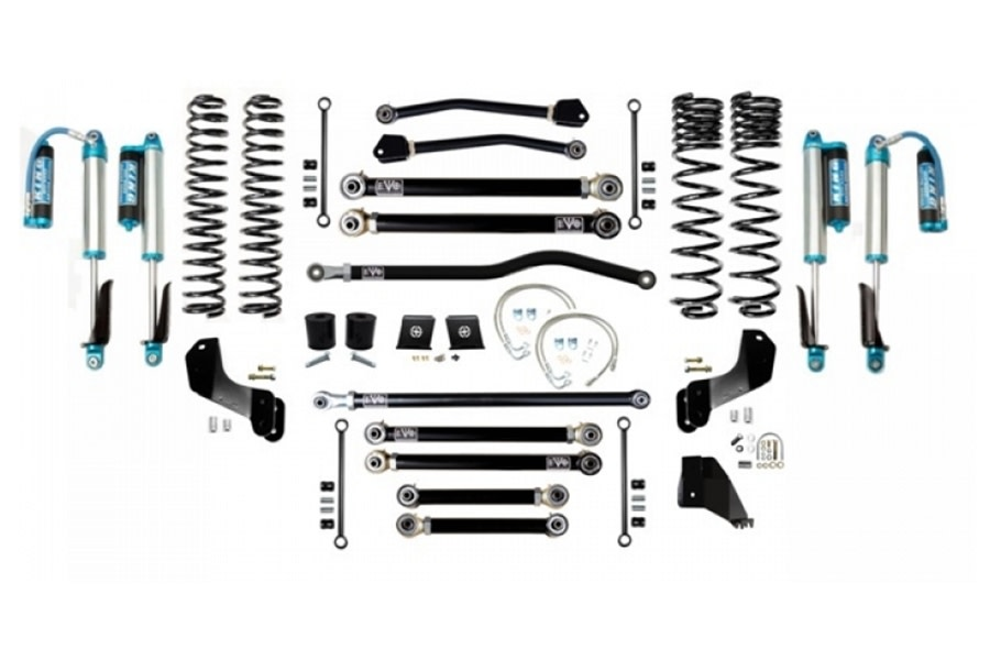 EVO Manufacturing 6.5in Enforcer Overland Stage 4 Plus Lift Kit w/ King Shocks - JT Diesel
