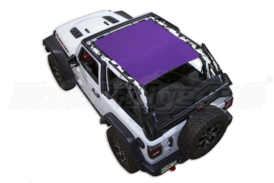 Spiderwebshade JL2D ShadeTop Purple (Part Number:SWS-SHDTOP-01-JL2D-PRP)
