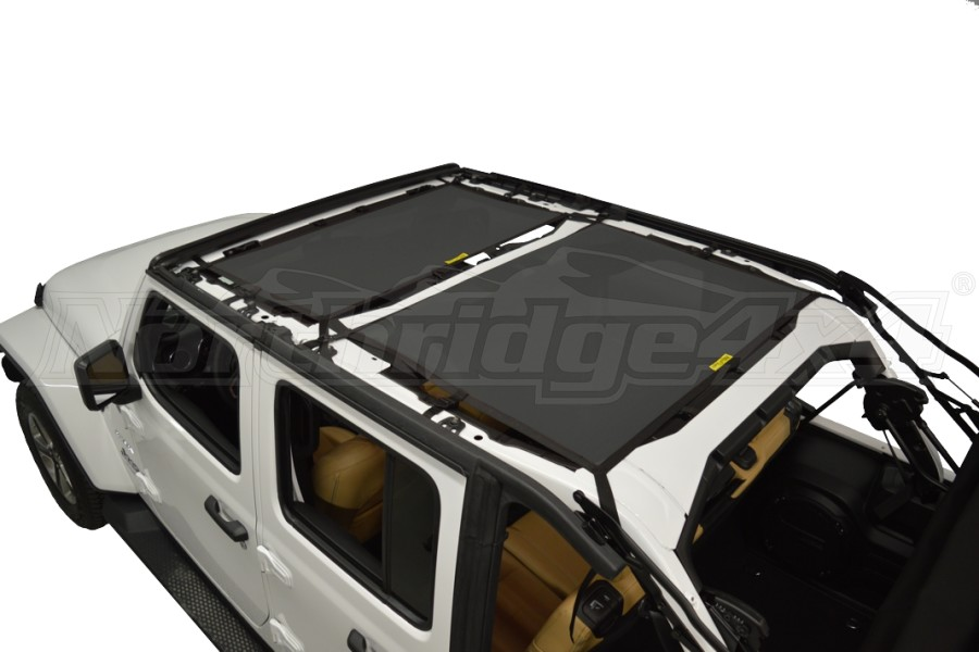 Dirty Dog 4x4 Sun Screen Front and Rear - Black (Part Number:JL4S18F2BK)