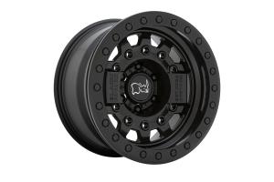 Black Rhino Avenger Beadlock Wheel, 17x8.5 5x5 - Matte Black - JT/JL/JK