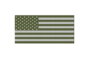 Under The Sun Inserts Olive Drab Old Glory White Stars And Stripes Grill Insert - JL
