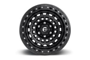 MHT FUEL Zephyr Beadlock Wheel D101 Matte Black W/ Matte Black Ring 17x9 5x5 (Part Number: )