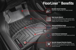 WeatherTech Front Floor Liners, Black - JL/JT
