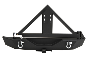 Smittybilt XRC Rear Bumper w/Tire Carrier and Hitch Black ( Part Number: 76856)