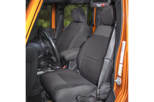 Rugged Ridge Neoprene Front Seat Covers Black - JK 2011+