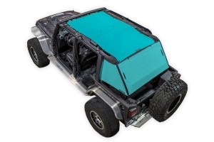 SpiderWebShade 2-Piece ShadeCage System - Teal - JK 4Dr