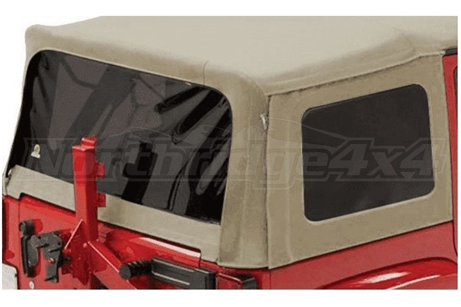 Bestop Pebble Beige Supertop NX/Replace-A-Top Replacement Soft Top Tinted Window Kit - JK 4Dr