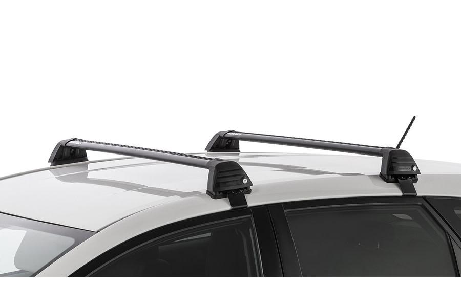 Rhino Rack Vortex ROC25 Flush 2 Bar Roof Rack - Black  - Length - Front 1069mm, Rear 995mm